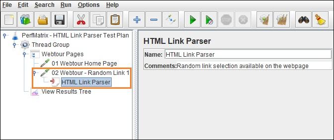 HTML Link Parser