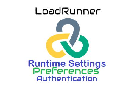 LoadRunner - Runtime Settings - Preferences - Authentication Setting