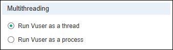 Run as a Thread vs Run as a Process Option