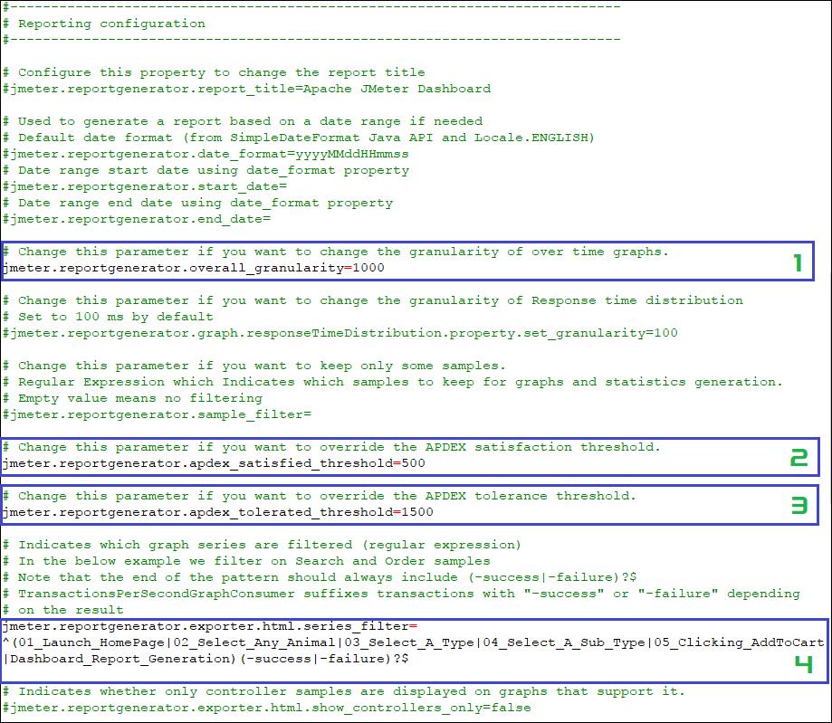 user.properties file for JMeter Dashboard Report GUI mode