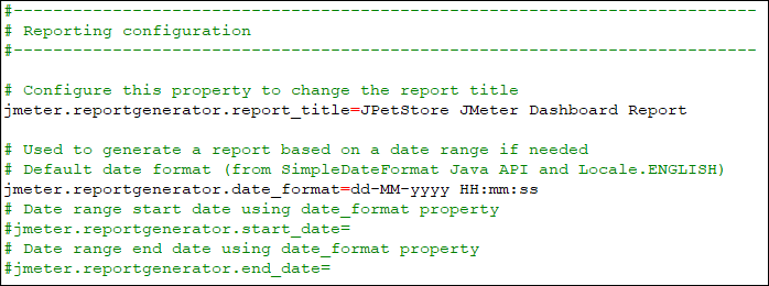 user.properties File of JMeter