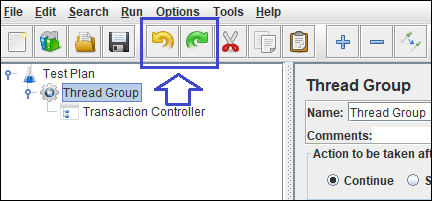 Enabled Undo and Redo buttons