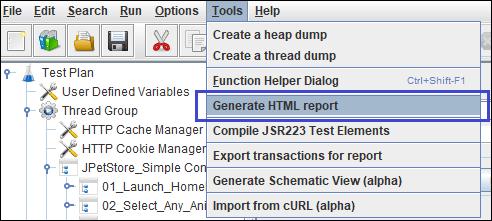 Generate HTML Report option