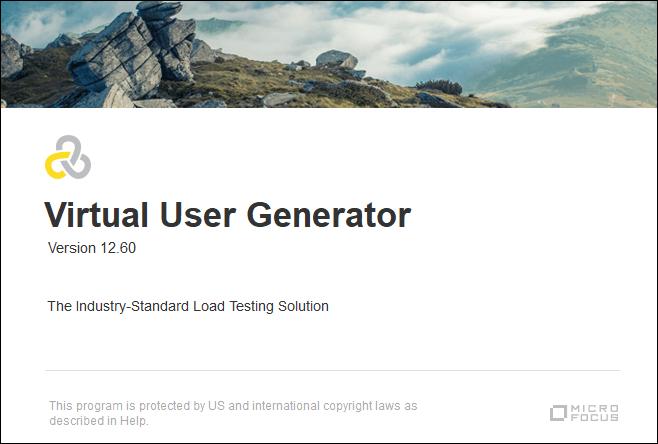 LoadRunner - VuGen Launch Screen