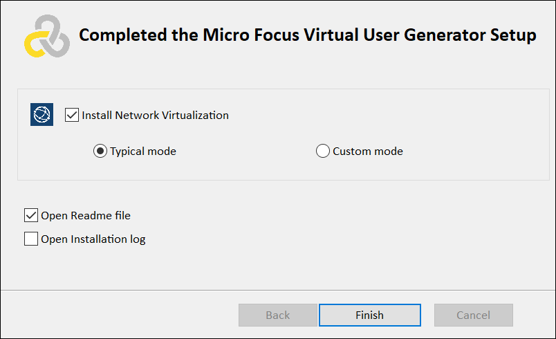 Installation of LoadRunner VuGen - Network Virtualization