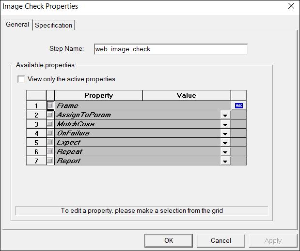 web_image_check - General tab