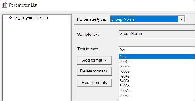 LoadRunner Parameter Types - Group Name