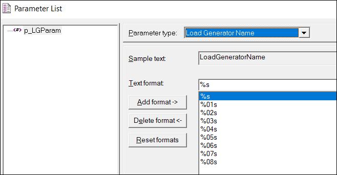 LoadRunner Parameter Types - Load Generator Name