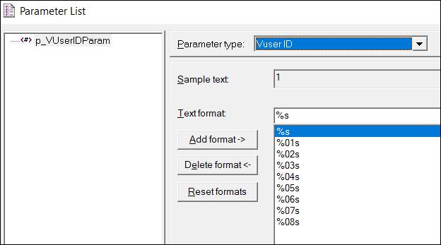 LoadRunner Parameter Types - Vuser ID
