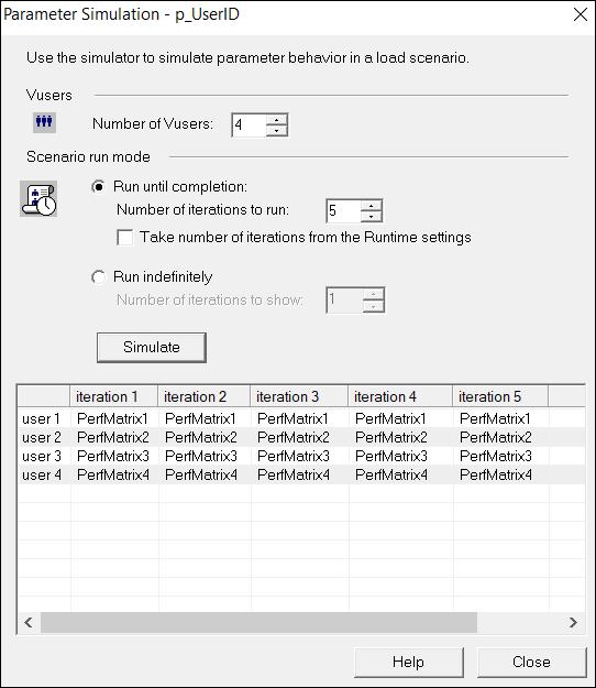 LoadRunner Parameter Settings