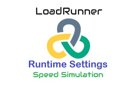 LoadRunner Runtime Settings - Speed Simulation logo