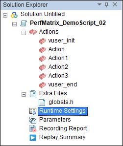 Runtime Settings under Solution Explorer