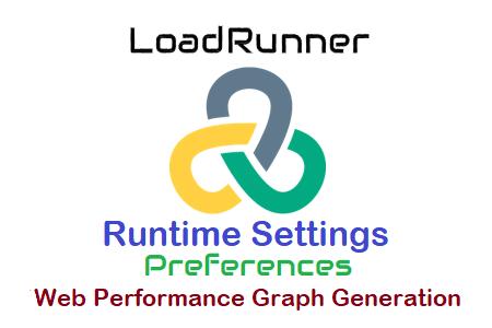 LoadRunner - Runtime Settings - Preferences - Web Performance Graph Generation