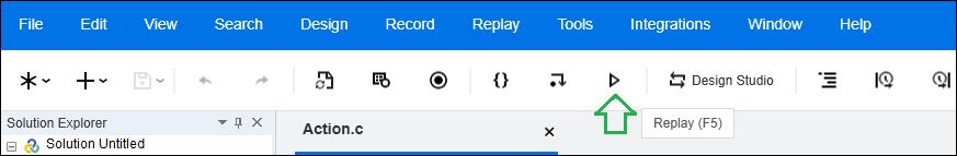 LoadRunner - VuGen Script Replay - Option 1