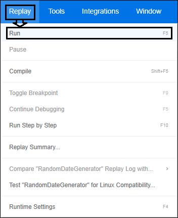 LoadRunner - VuGen Script Replay - Option 2