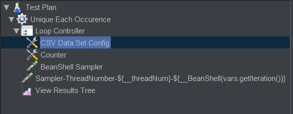JMeter Parameter Setting - Unique Each Occurrence 02