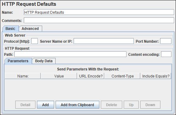 JMeter - HTTP Request Defaults