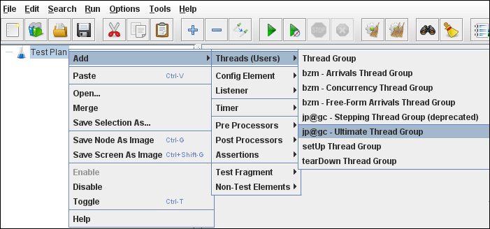 JMeter - Ultimate Thread Group