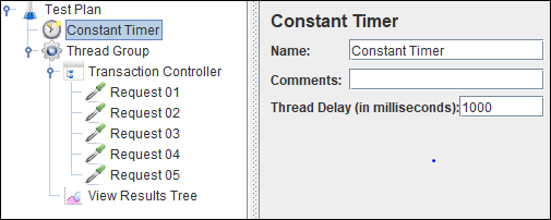 JMeter - Constant Timer