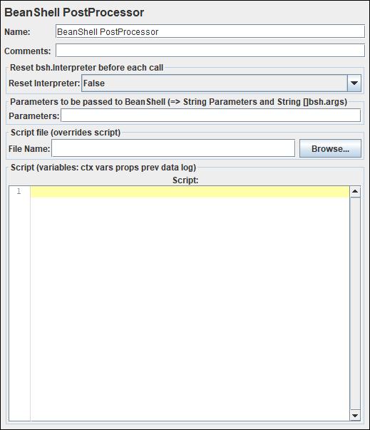 JMeter BeanShell PostProcessor
