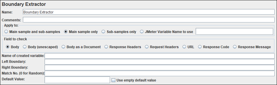 JMeter - Boundary Extractor