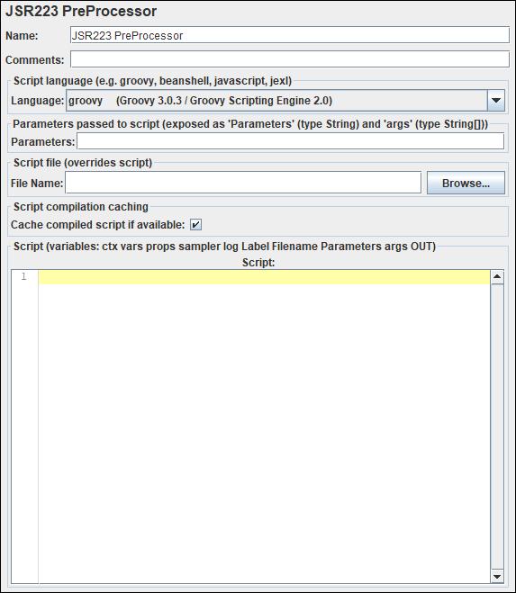 JMeter - JSR223 PreProcessor
