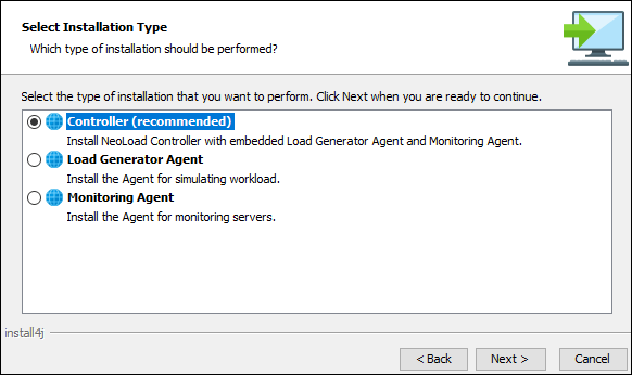How to install NeoLoad - Installation Type