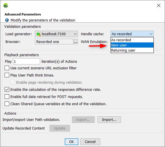 NeoLoad - Check User Path - Advanced Parameter