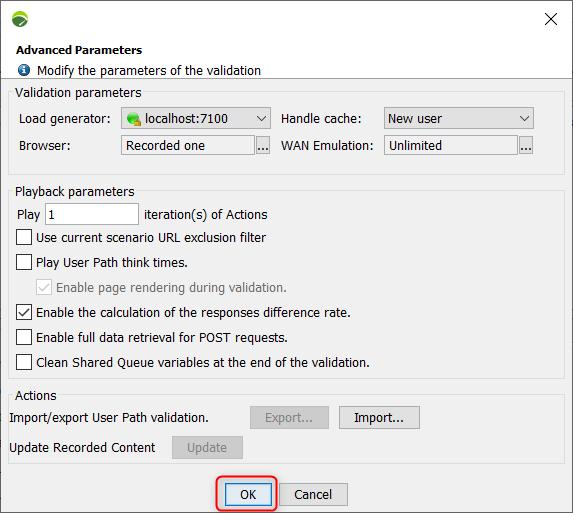 NeoLoad - Check User Path - Handle cache