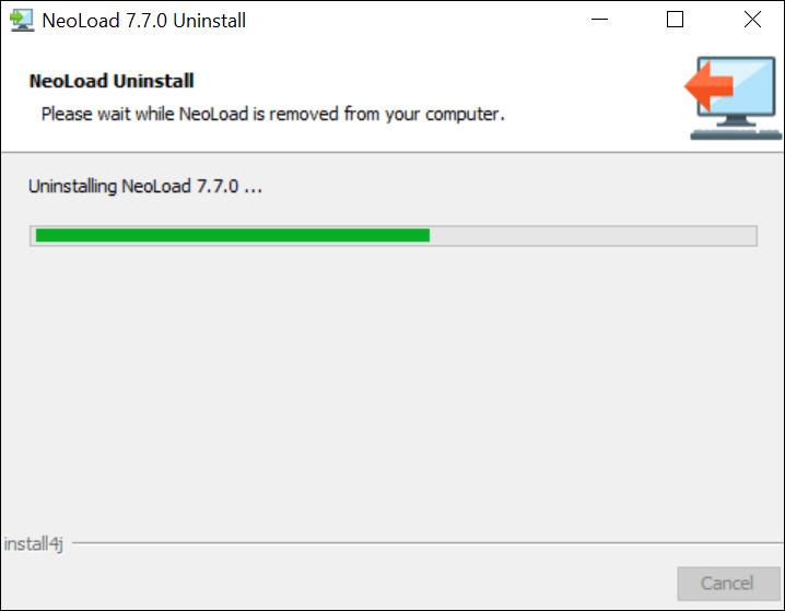 How to uninstall NeoLoad? - Progress Bar