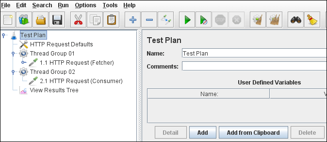 JMeter - Passing Variable Value to another Thread Group - Test Plan