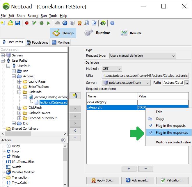 NeoLoad - Correlation (Handling Dynamic Value) - Flag in Response