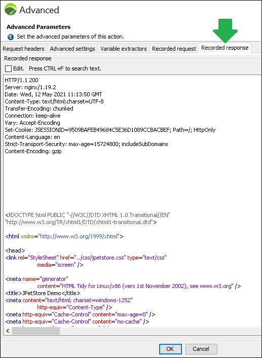 NeoLoad - Correlation (Handling Dynamic Value) - Recorded Response