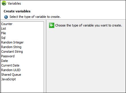 NeoLoad - Parameterization (Variable) - Create variable