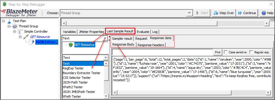 JMeter - Real-Time Debugging (All In One) - Last Sample Result
