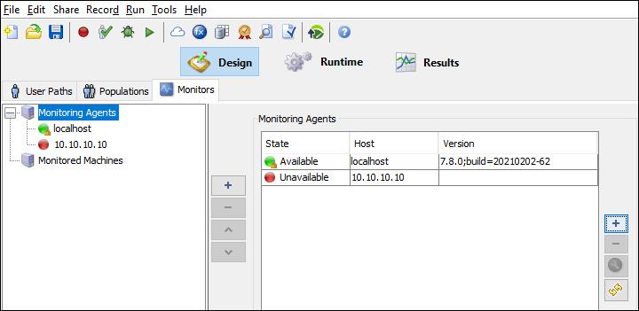 NeoLoad - Monitors - Monitoring Agents
