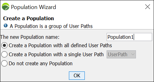 NeoLoad - Populations Wizard