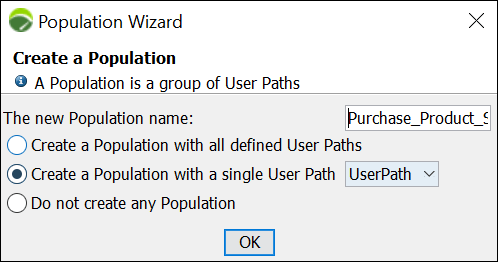 NeoLoad - Populations with single user path
