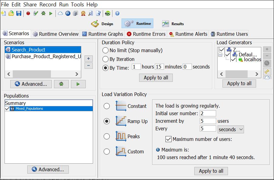 NeoLoad - Test Scenario